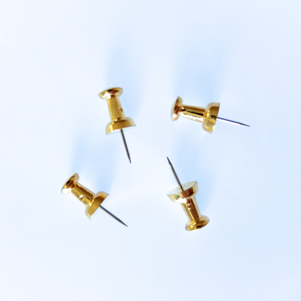 Velos Push Pins Gold